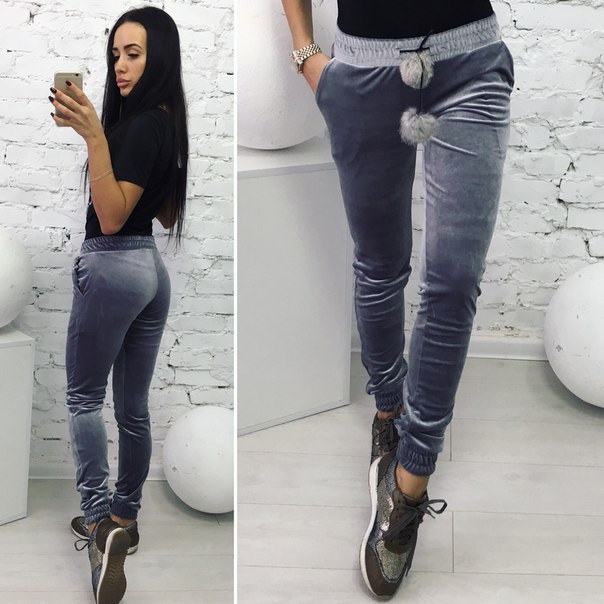 Женские модные штаны из бархата