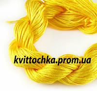 Шнур капроновый  для плетения шамбалы - жёлтый