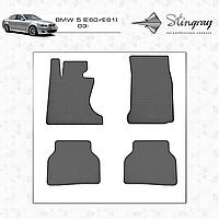 Коврики резиновые в салон BMW 5 E61 с 2003 (4шт) Stingray