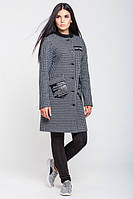 Серое женское пальто  Нью-Йорк  Leo Pride 42-48 размеры