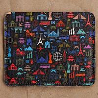 Картхолдер «Значки городов на черном фоне», фото 1