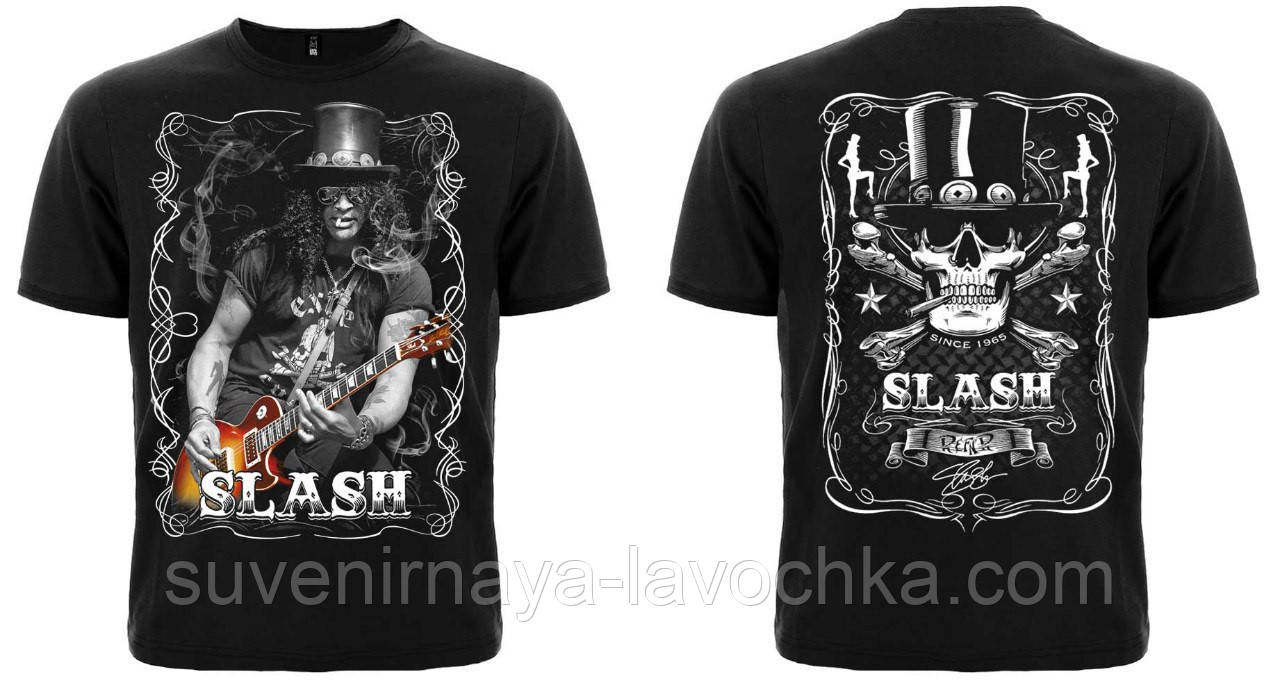Рок футболка Slash (with guitar and cigarette)