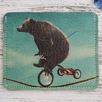 Картхолдер «Медведь на велике», фото 1