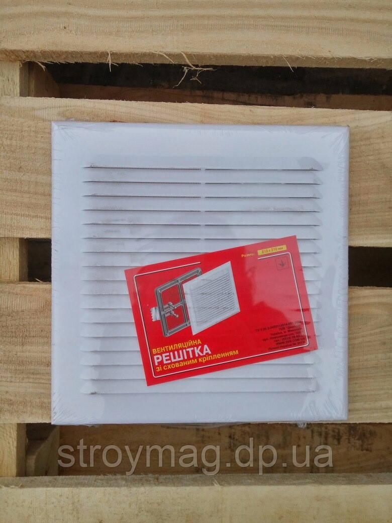 Вентиляційна решітка для природної та примусової вентиляції з приєднаним фланцем 180*250 d 120мм