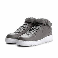Кроссовки женские NikeLab Air Force Mid Light Charcoal/White серые