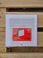 Вентиляционная решетка с защитной сеткой и двойным креплением 210*210 жалюзи