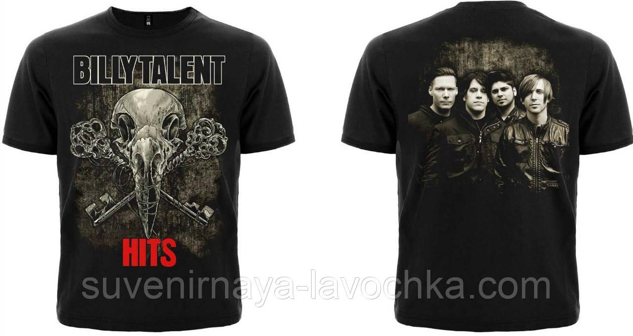 "Рок футболка Billy Talent ""Hits"""