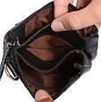 Кожаная мужская сумка 300149, черная, фото 7