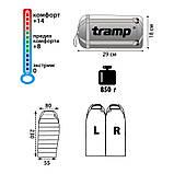 Ультралегкий спальник Tramp Mersey TRS-019.02/ +8°С (левый), фото 3