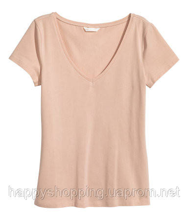 Бежевая футболка H&M