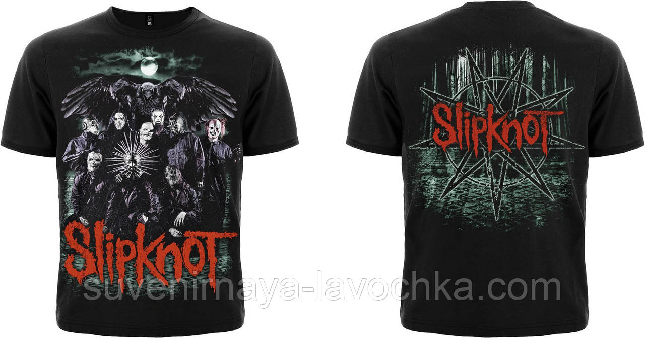 Рок футболка Slipknot (crow)