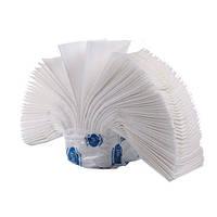 Полотенце бумажное в пачке V-складка, белое 2-х слойное, 160 листов