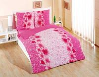 Махровый комплект постельного белья с цветочным принтом хит сезона