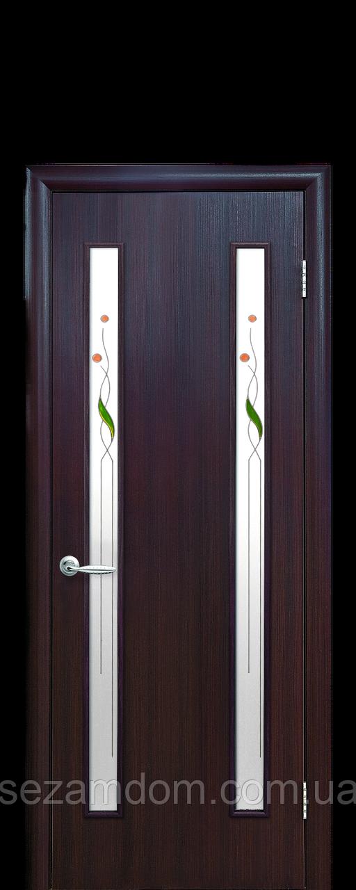 Дверь межкомнатная ВЕРА СО СТЕКЛОМ САТИН  Экошпон