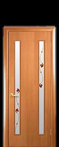 Дверь межкомнатная ВЕРА СО СТЕКЛОМ САТИН И РИСУНКОМ Р4 ПВХ