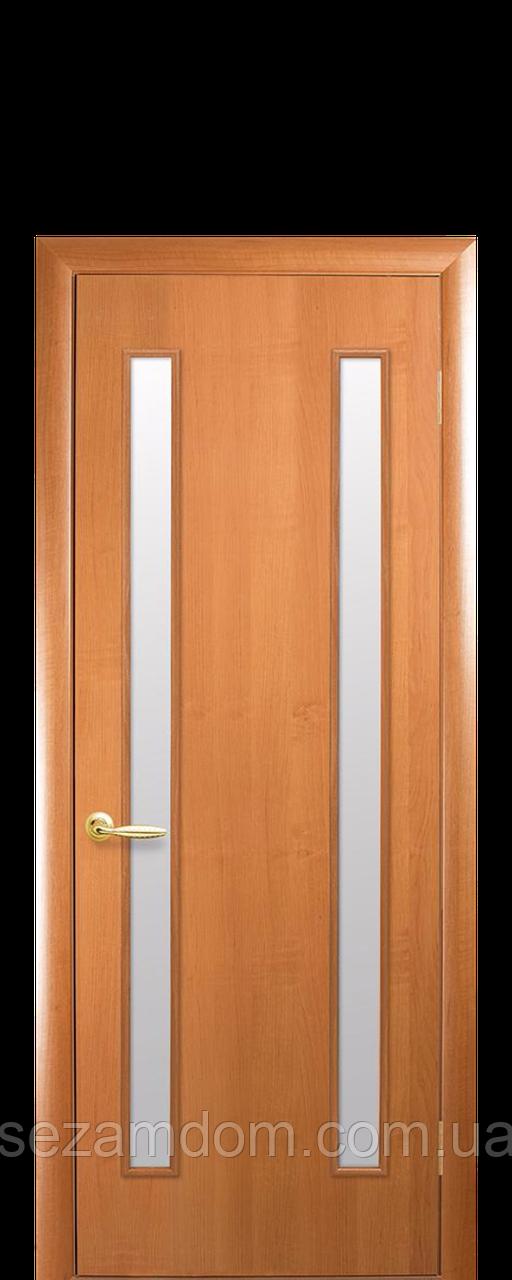 Дверь межкомнатная ВЕРА СО СТЕКЛОМ САТИН Финиш бумага