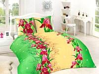 Махровое постельное белье с цветочным принтом новинка сезона