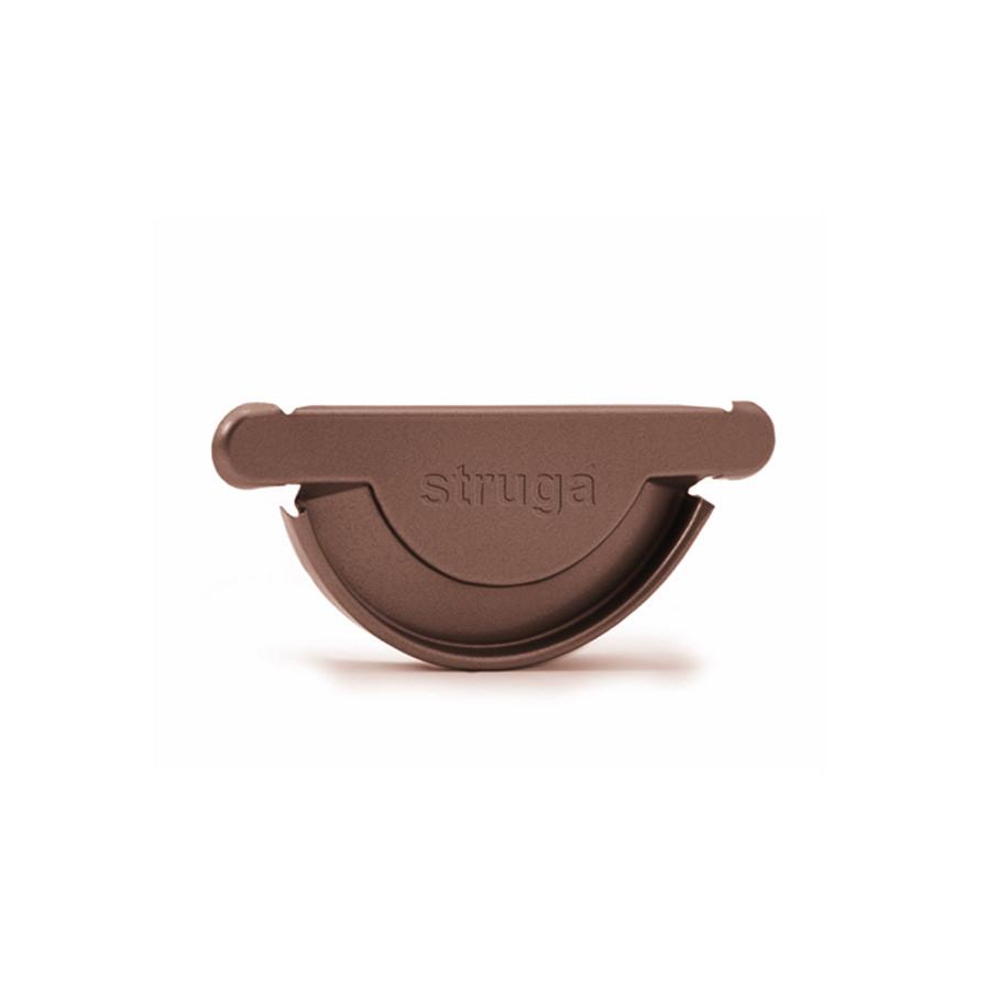 Заглушка желоба 125 мм металлическая