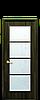 Дверь межкомнатная ВИКТОРИЯ СО СТЕКЛОМ САТИН И РИСУНКОМ Р4 Экошпон, фото 3