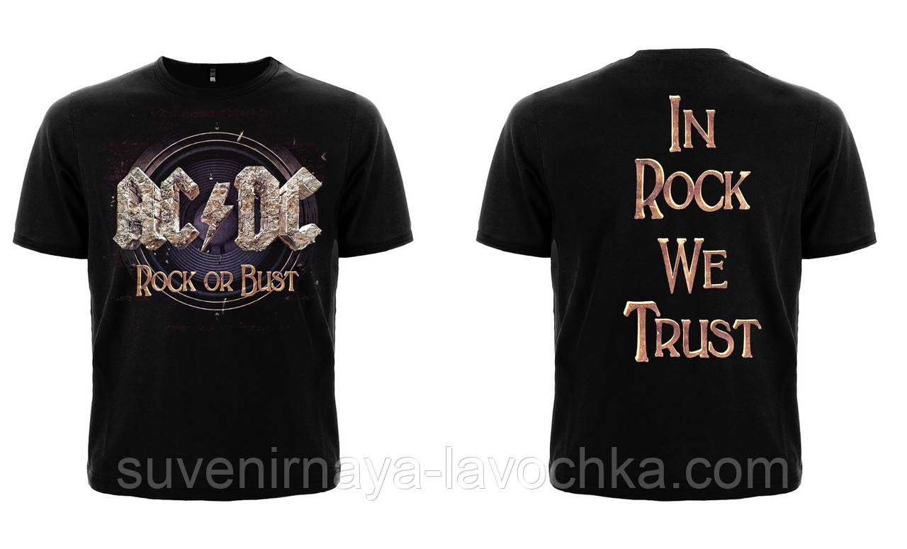 "Рок Футболка AC/DC ""Rock Or Bust"""