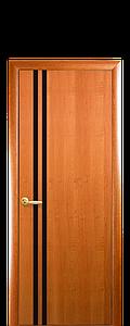 Дверь межкомнатная ВИТА С ЧЕРНЫМ СТЕКЛОМ Финиш бумага