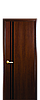 Дверь межкомнатная ВИТА С ЧЕРНЫМ СТЕКЛОМ Финиш бумага, фото 2