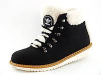 Зимние женские меховые теплые ботинки Adidas