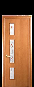 Дверь межкомнатная ГЕРДА СО СТЕКЛОМ САТИН И РИСУНКОМ Р1 Финиш бумага