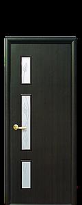 Дверь межкомнатная ГЕРДА СО СТЕКЛОМ САТИН И РИСУНКОМ Р3 Экошпон