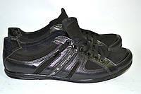 Туфли-кроссовки мужские Artos черный шнурок OK-9117, фото 1