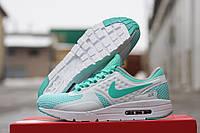 Женские кроссовки Nike Air Zero пресс-кожа, плотная сетка, подошва пенка размеры 36-41 мятные