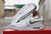 Женские кроссовки Nike Air Zero пресс-кожа, плотная сетка, подошва пенка размеры 36-41 белые