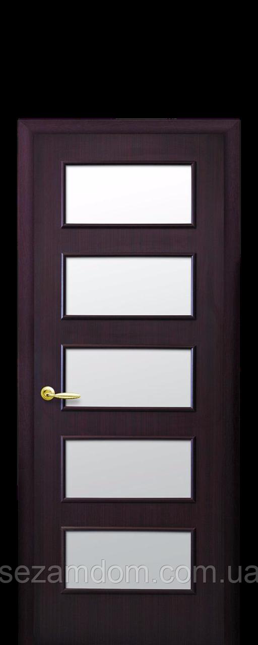Дверь межкомнатная ЕВА СО СТЕКЛОМ САТИН Финиш бумага