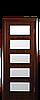 Дверь межкомнатная ЕВА СО СТЕКЛОМ САТИН Финиш бумага, фото 2