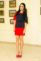 Платье красно-синее