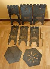 """Печь казан-мангал 3в1 """"Гюльчатай"""", 2мм, с чехлом, фото 3"""