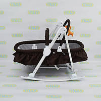 Детский шезлонг-люлька TILLY (BT-BB-0003 COFFEE) с регулировкой спинки