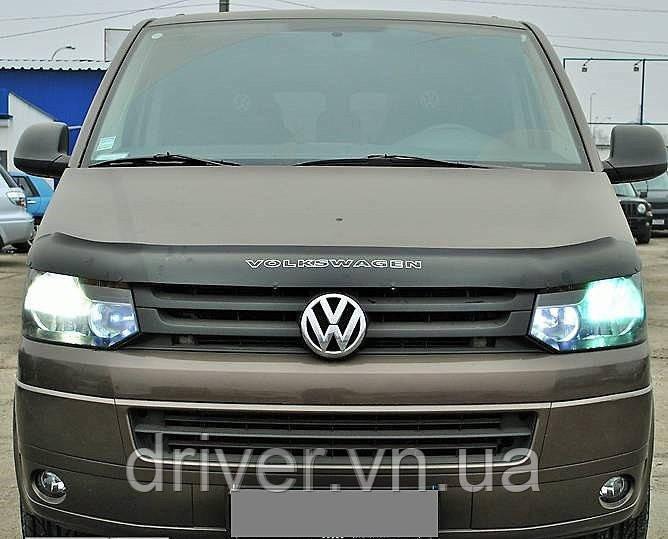 Дефлектор капота (мухобойка) Volkswagen T5+ 2010-