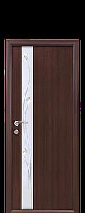 Дверь межкомнатная ЗЛАТА СО СТЕКЛОМ САТИН И РИСУНКОМ Р1 Экошпон