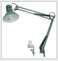 Лампа на струбцине настольная DL074, 60W E27, серая