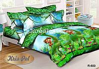 """Детский комплект постельного белья """"Хороший динозавр""""."""