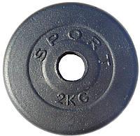 Гантельный диск 2 кг