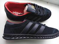 Кроссовки мужские Adidas Hamburg Navi-Gold-Red