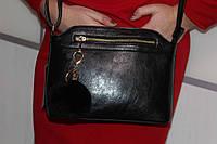 Женская Модная нарядная сумка с натуральным пушком