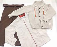 Детский костюм - кофта , рубашка,  брюки - для мальчика на 2 - 6 лет