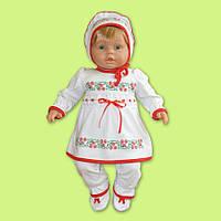 Нарядный комплект для малышки из 100% хлопка, выполнен в лучших украинских традициях 68-80