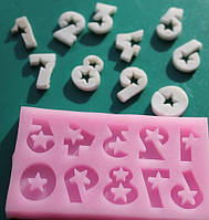Молд силиконовый Цифры звездные, фото 1