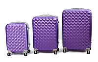 Комплект чемоданов комплект 3 в 1 на колесах ABS, фото 1