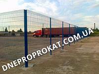 Сварной забор Рубеж 1,5. Сетка сварная оцинкованная с полимерным покрытием.