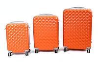 Комплект чемоданов комплект 3 в 1 на колесах ABS